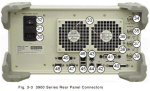 Rear Panel: Aeroflex (IFR) 3920 Analog & Digital Radio Test Set
