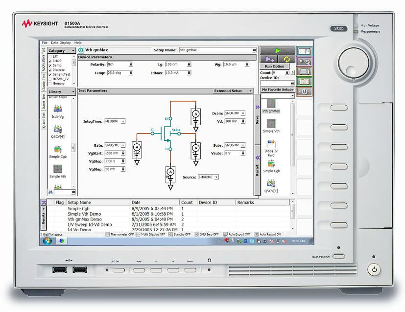 used keysight  agilent  b1500a semiconductor device