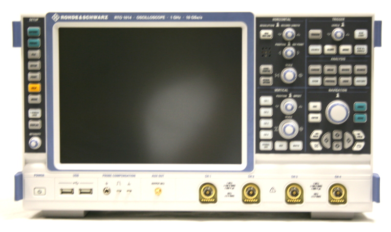 Used Rohde Amp Schwarz Rto1014 4ch 1ghz 5 Gs Sec Digital