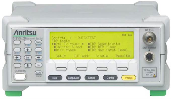 Used Anritsu Mt8852b Bluetooth Test Set Rentals Amp Leases