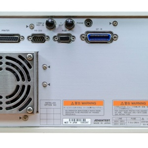 Rear RF Inputs: Advantest R3132 9kHz to 3GHz Versatile Spectrum Analyzer